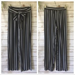 Cynthia Rowley striped wide leg pants